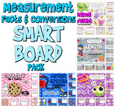 Measurement Units & Conversions SMART BOARD PROMETHEAN Pack - This pack is aligned with common core standards 4.MD.A.1 and 4.MD.A.2 and contains six self-checking SMART BOARD games on measurement units and conversions (time, capacity, length, weight, and the metric system). Word problems are included in each title. $