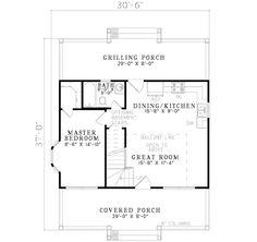 Cottage Style House Plan - 2 Beds 1 Baths 975 Sq/Ft Plan #17-2139 Main Floor Plan - Houseplans.com
