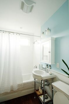 Paint colour: Birds Egg by Benjamin Moore   Love this color with the white!!!