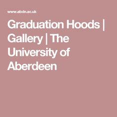 Graduation Hoods | Gallery | The University of Aberdeen