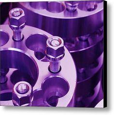 Purple Mopar Parts Canvas Print / Canvas Art By Linda K Pearson