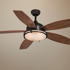 "52"" Taliesim Oil Burnished Bronze Ceiling Fan - (1) 55 watt T6 bulb - remote - $223.91"