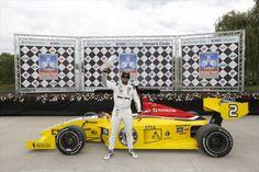 Gustavo Yacaman, winner of the Indy Lights Detroit Grand Prix.