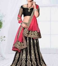 Buy Designer Green Embroidered Jacquard Fancy Lehenga with Blouse ghagra-choli online