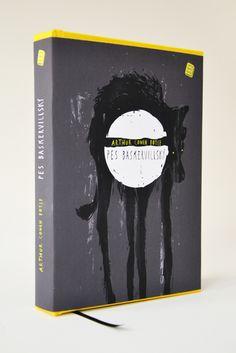 Arthur Conan Doyle Pes Baskervillsky, cover illustration by Nikola Klimova