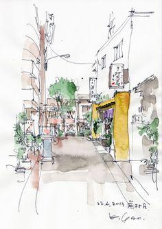 ほろ酔いスケッチ2点in 東京 tipsy sketch 2 pics in tokyo