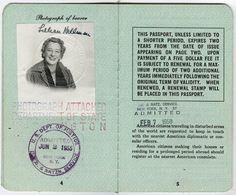 Lillian Hellman's passport