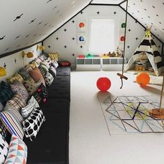 kids-rooms-that keep you fit 4 & Making a Playroom in your Attic | Pinterest | Attic playroom ...