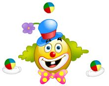 Free funny and scary clown animated gifs - best clown animation collection- over 10000 gifs. Smiley Emoticon, Emoticon Faces, Smiley Faces, Animated Emoticons, Funny Emoticons, Animated Gif, Christmas Emoticons, Birthday Smiley, Good Morning Quotes