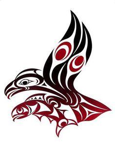 "Serigraph, Edition of 30 ""x eagle fish art native Native American Totem, Native American Symbols, Native American Design, Native Design, American Indian Art, Arte Inuit, Arte Haida, Haida Art, Inuit Art"