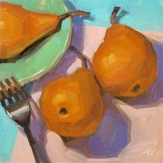"""Pear Migration - SOLD"" by Carol Marine"