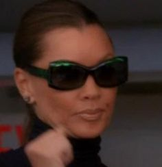 b322fc9890 Ugly Betty JEE VICE FABULOUS GREEN SILK FRAME  VanessaWilliams   WilheminaSlater  TVshow  Sunglasses