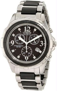 citizen ladies watch two tone stainless steel eco-drive fb1241-53e