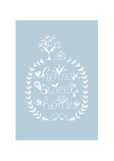 Home Sweet Home Art Print, Bird illustration, Animal Illustration, Floral Print, Tree house, Drawing, Kids room decor, Squirrel illustration by dekanimal on Etsy