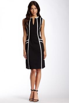 DS Dress by Debbie Shuchat Debbie Shuchat Contrast Trim Dress