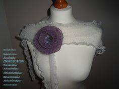 Graziosa spilla lavorata a legaccio per arricchire cardigan, scialli, scaldacollo o come la vostra fantasia vi suggerisce. Cardigan, Crochet Hats, Fashion, Fantasy, Knitting Hats, Moda, Fashion Styles, Fashion Illustrations