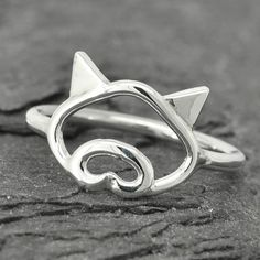 Pig ring, little piggy ring, 925 sterling silver, animal ring, pig jewelry, $25.00