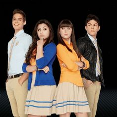 Here is Daniel, Emma, Mia, and jax from every witch way