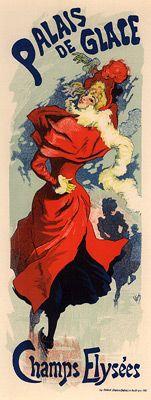 """Cheret, Jules - PL. 237 - Palaise de Glace; Original lithograph from """"Les Maitre de L'Affiches"""" series. Printed by Imprimerie Chaix, Paris, 1900."""