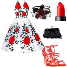 50's style---this is beautiful! Not so much on the shoes tho...