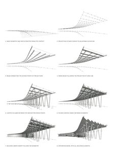 Gallery of Hunter's Point South Waterfront Park / Thomas Balsley Associates + Weiss Manfredi - 19 Folding Architecture, Architecture Drawing Sketchbooks, Conceptual Architecture, Architecture Details, Modern Architecture, Architecture Posters, Pavillion Design, Parque Linear, Great Buildings And Structures