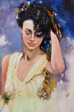 "Saatchi+Online+Artist+Aziz++Anzabi;+Painting,+""Midnight+Tango""+#art"