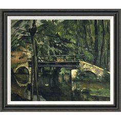 Global Gallery 'The Bridge at Maincy (Le Pont de Maincy)' by Paul Cezanne Framed Painting Print Size: