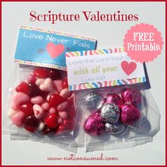 7 Free Scripture Valentine Printables - simple, frugal and fun!