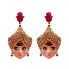 Les Néréides – N2, From the collection Manouch – Muse Look Little Maharadjah Earrings