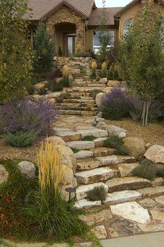 Stone walkway in frederick maryland garden pinterest - Lemongrass custom home design inc ...