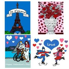 Great Valentine Gift to someone you love.  Card Set from http://www.lauralovinghappy.com