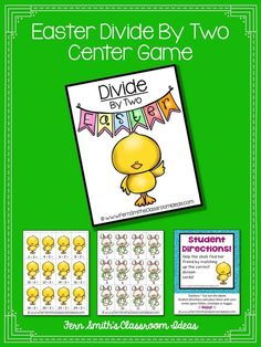 Quick and Easy to Make Division Center Game Divide By Two Concept for Easter #TPT $Paid