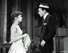 "Frank Sinatra and Debbie Reynolds in ""The Tender Trap"" 1955"