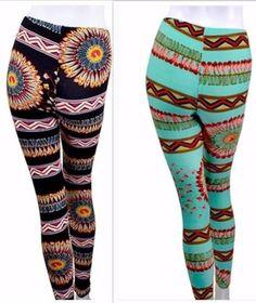 Bohemian-Print-Leggings-2-COLORS-Striped-Skinny-Leg-Ankle-Length-Tribal #Unique_Boho_Style Tribal Outfit, Bohemian Pants, Boho Fashion, Womens Fashion, Print Leggings, Color Stripes, Skinny Legs, Ankle Length, Boho Style