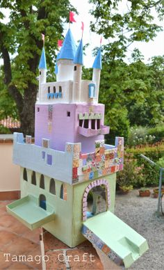 Tamago Craft: Castello delle fiabe realizzato con cartone riciclato