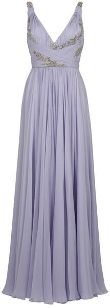 Marchesa Ruched Bust Gown