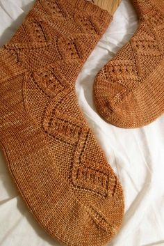 Looking for your next project? You're going to love Nutmeg Socks by designer verybusymonkey.