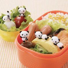 Panda-Foodpicks. Dürfen natürlich auch nicht fehlen.