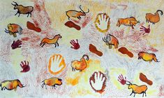 Cave Paintings For Kids , Cave For Kids Projects For Kids, Art Projects, Prehistoric Age, Cro Magnon, Kids Class, Gifts For Photographers, Square Photos, Stone Age, Ancient Art