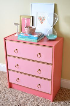 this is an ikea dresser redone! amazing!