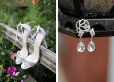 crystal accented shoes and earrings.