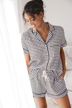 Why shouldn't you rock the trends during the night too?! We ADORE these gingham PJs!