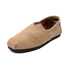 Shop for Mens TOMS Burlap Classic in Khaki at Journeys Shoes. Shop today for the hottest brands in mens shoes and womens shoes at Journeys.com.This Classic Burlap Slip-On from Toms features the famous Toms toe stitch and elastic V, cushioned suede insole, latex arch and and one piece mixed rubber out sole..