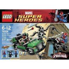 Venom™ has taken control of Nick Fury's S.H.I.E.L.D. flying car and is making a super-fast getaway. Send Spider-Man™ to the rescue in his cool Spider-Cycle!  LEGO Super Heroes Spider-Cycle Chase 76004  Price : $22.63 #legos #superheroes http://www.thinkfasttoys.com/LEGO-Super-Heroes-Spider-Cycle-Chase/dp/B00A850VEM