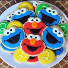 Elmo cookies my sister would love these