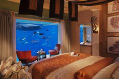 This is a picture of an Under the Sea suite at the Atlantis Resort. Amazing!