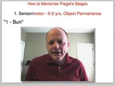 How to Memorize Piaget's Stages of Cognitive Development - YouTube