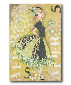 Loving this 'After 5' Whimsical Girl Canvas on #zulily! #zulilyfinds