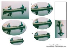 Kayak Canoe Reflections Gift Tag Oval Pyrimage Piramid on Craftsuprint - Add To Basket!