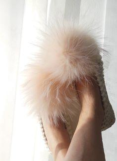 Merino Wool  Chunky Cream Knitted Woman's Slippers  by NENAKNIT